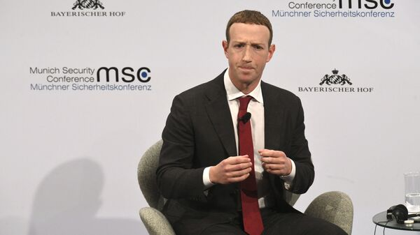 The founder and CEO of Facebook Mark Zuckerberg speaks during the 56th Munich Security Conference (MSC) in Munich, southern Germany, on February 15, 2020. - The 2020 edition of the Munich Security Conference (MSC) takes place from February 14 to 16, 2020.  - Sputnik International
