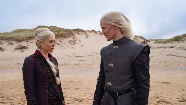 Screenshot captures one of the first peeks at the upcoming Game of Thrones prequel series House of the Dragon, which will be based off of George R.R. Martin's book Fire & Blood. - Sputnik International