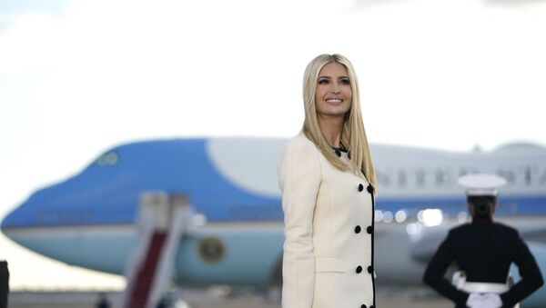Ivanka Trump smiles as she arrives at Joint Base Andrews in Maryland for US President Donald Trump's departure on January 20, 2021. - President Trump travels to his Mar-a-Lago golf club residence in Palm Beach, Florida, and will not attend the inauguration for President-elect Joe Biden. - Sputnik International