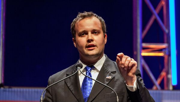 Josh Duggar, then-executive director of the Family Research Council, speaks at the Family Leadership Summit in Ames, Iowa,  August 9, 2014 - Sputnik International