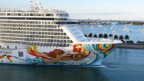 Norwegian Getaway cruise ship sailing out of Port Miami, Florida - Sputnik International