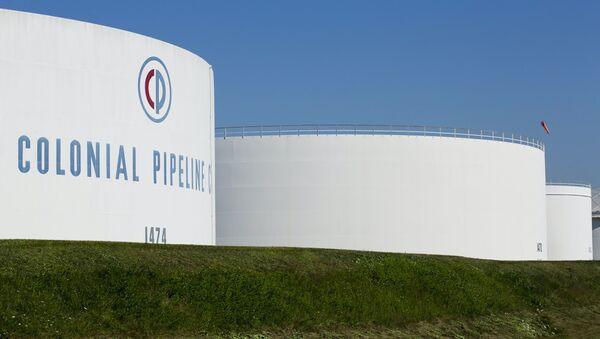 Holding tanks are seen at Colonial Pipeline's Linden Junction Tank Farm in Woodbridge, New Jersey, U.S - Sputnik International