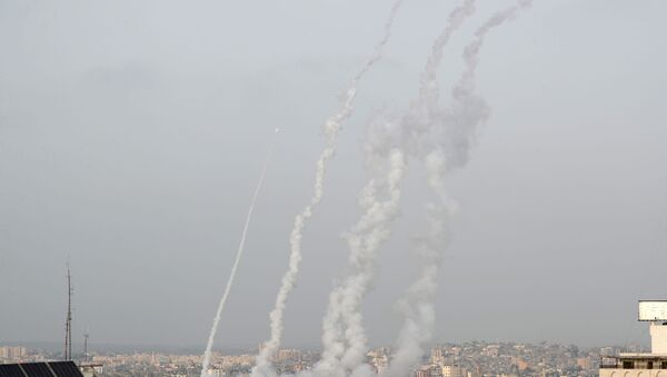 Rockets are launched into Israel amid Jerusalem's tension, in Gaza May 10, 2021 - Sputnik International