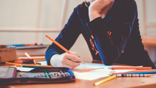 A student studying in school - Sputnik International