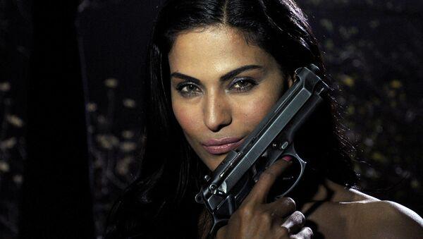 "Pakistani actress Veena Malik poses on the set of her forthcoming Hindi film ""Mumbai 125 kms"" in Mumbai on March 21, 2012 - Sputnik International"