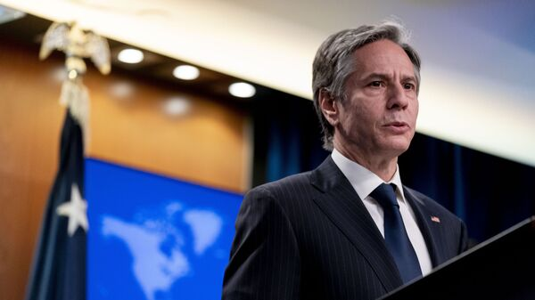 Secretary of State Antony Blinken speaks at a news conference to announce the annual International Religious Freedom Report at the State Department in Washington, Wednesday, May 12, 2021. - Sputnik International
