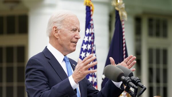 US President Joe Biden speaks about the coronavirus disease (COVID-19) response and the vaccination program from the Rose Garden of the White House in Washington, U.S., 13 May 2021. - Sputnik International