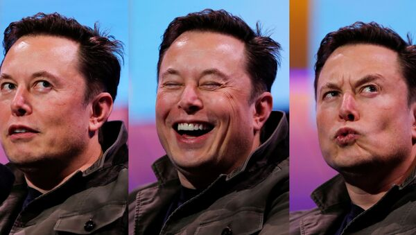 A combination picture shows SpaceX owner and Tesla CEO Elon Musk speaking during a conversation with legendary game designer Todd Howard (not pictured) at the E3 gaming convention in Los Angeles, California, U.S., June 13, 2019.   - Sputnik International
