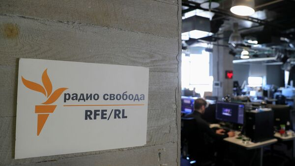A view shows the newsroom of Radio Free Europe/Radio Liberty (RFE/RL) broadcaster in Moscow, Russia April 6, 2021. Picture taken April 6, 2021. - Sputnik International
