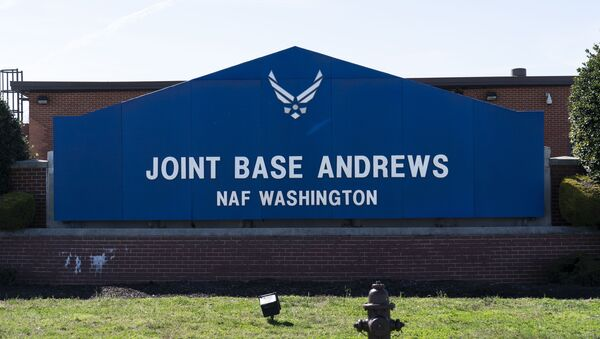 The sign for Joint Base Andrews is seen, Friday, March 26, 2021, at Andrews Air Force Base, Md. - Sputnik International