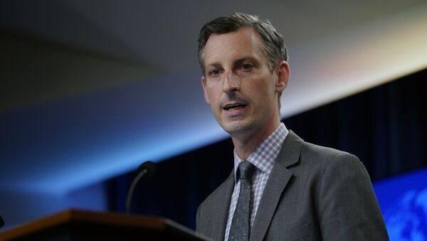 State Department spokesman Ned Price speaks at the State Department in Washington, Wednesday, March 31, 2021. - Sputnik International