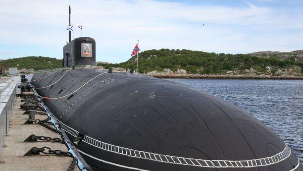 Project 955A - Borey-A strategic submarine Knyaz Vladimir after arriving at the main submarine base of the Northern Fleet in Gadzhievo. - Sputnik International