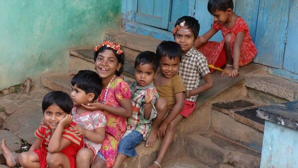 Indian children. - Sputnik International