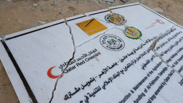 Qatar Red Crescent's sign - Sputnik International