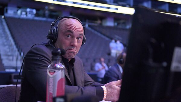 JACKSONVILLE, FLORIDA - MAY 09: Announcer Joe Rogan reacts during UFC 249 at VyStar Veterans Memorial Arena on May 09, 2020 in Jacksonville, Florida. - Sputnik International
