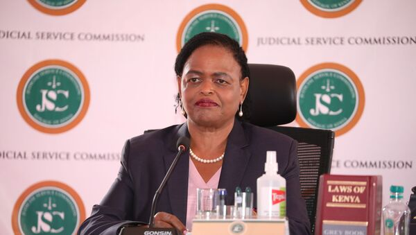 Judge Martha Koome attends the interview for the post of Chief Justice at the Supreme Court building in Nairobi, Kenya April 14, 2021. Picture taken April 14, 2021.  - Sputnik International
