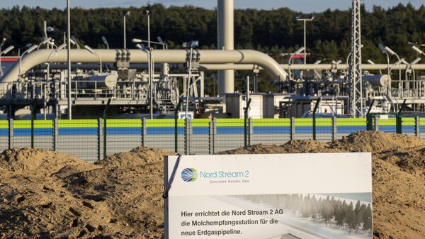(FILES) In this file photo taken on 7 September 2020 the Nord Stream 2 gas line landfall facility in Lubmin, north eastern Germany - Sputnik International
