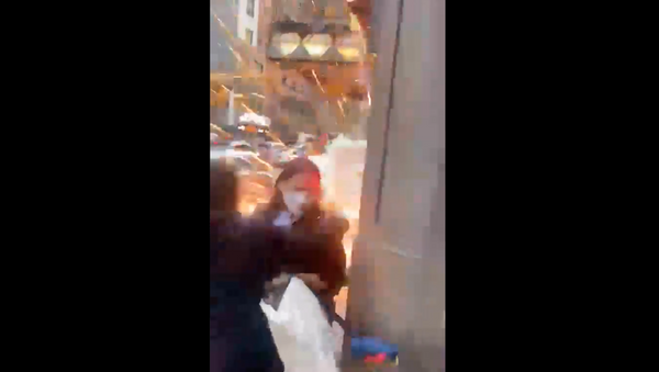 Screenshot captures the moment in which an explosive device erupts in New York City, New York, on Thursday, May 20, 2020.  - Sputnik International