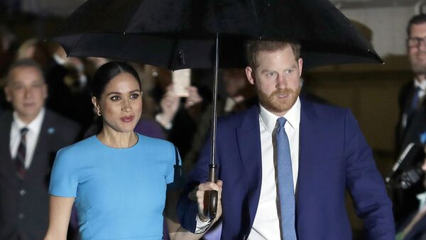 FILE - In this March 5, 2020, file photo, Britain's Prince Harry and Meghan, Duchess of Sussex, arrive at the annual Endeavour Fund Awards in London - Sputnik International