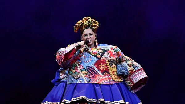 Participant Manizha of Russia performs during the final of the 2021 Eurovision Song Contest in Rotterdam, Netherlands, May 22, 2021. - Sputnik International