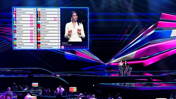 Jury votes take place during the final of the 2021 Eurovision Song Contest in Rotterdam, Netherlands, May 23, 2021. - Sputnik International