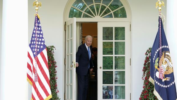 U.S. President Joe Biden leaves after speaking about the coronavirus disease (COVID-19) response and the vaccination program from the Rose Garden of the White House in Washington, U.S., May 13, 2021 - Sputnik International