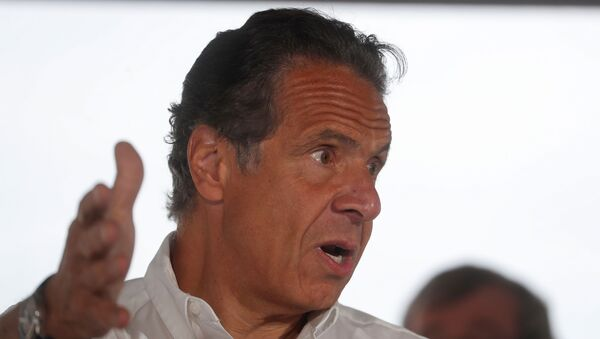 New York Governor Andrew Cuomo speaks while making an announcement during a news conference at Jones Beach State Park in Wantagh, New York, U.S., May 24, 2021. - Sputnik International