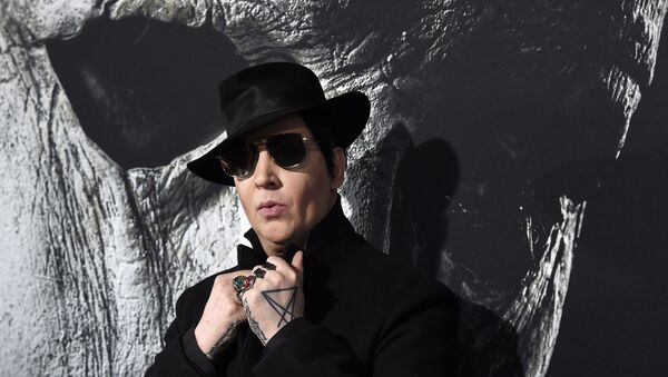 Musical artist Marilyn Manson poses at the premiere of the film Halloween at the TCL Chinese Theatre, Wednesday, Oct. 17, 2018, in Los Angeles. - Sputnik International
