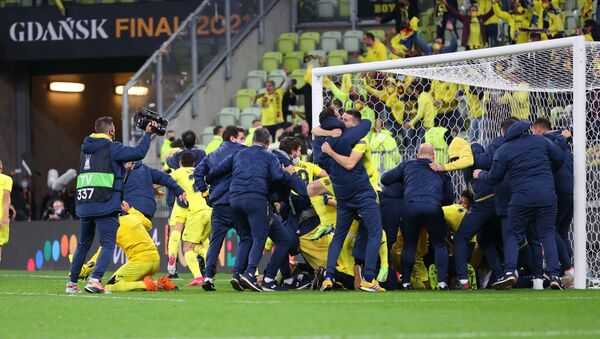 The Spanish football club Villarreal has won the UEFA Europa League, beating  England's Manchester United in the penalty shootout. - Sputnik International