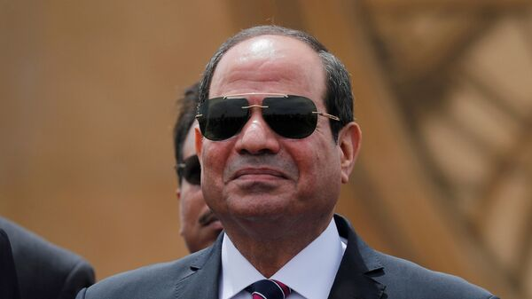 Egyptian President Abdel Fattah al-Sisi attends the opening ceremony of floating bridges and tunnel projects executed under the Suez Canal in Ismailia, Egypt May 5, 2019. - Sputnik International