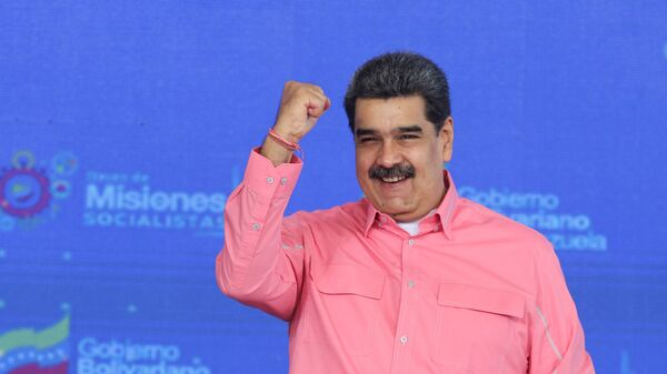 Venezuelan President Nicolas Maduro gestures during an event in Caracas, Venezuela May 14, 2021. - Sputnik International