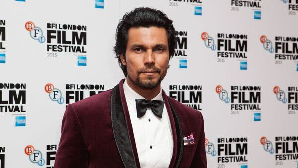 Actor Randeep Hooda poses for photographers upon arrival at the Premiere of the film Beeba Boys, showing as part of the London Film Festival, in central London, Thursday, Oct. 8, 2015 - Sputnik International