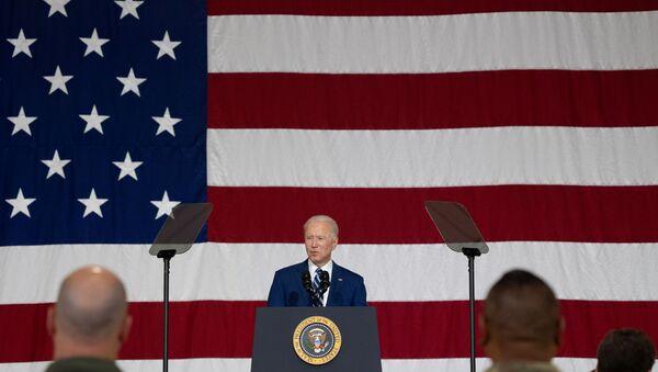 U.S. President Joe Biden delivers remarks at Joint Base Langley-Eustis in Hampton, Virginia, U.S. May 28, 2021. - Sputnik International