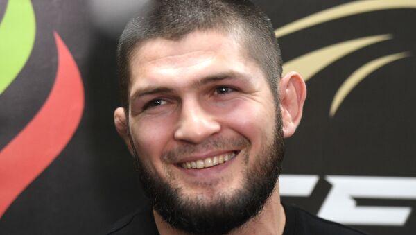 Owner of the EAGLE FC league, former UFC lightweight champion Khabib Nurmagomedov at the 36th EFC tournament in Kazan. - Sputnik International