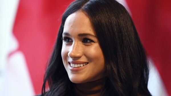In this Tuesday, Jan. 7, 2020 file photo, Meghan, Duchess of Sussex smiles during her visit with Prince Harry to Canada House, in London - Sputnik International