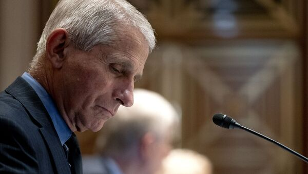 Anthony Fauci, director of the National Institute of Allergy and Infectious Diseases, listens during a hearing looking into the budget estimates for National Institute of Health (NIH) and the state of medical research on Capitol Hill in Washington, DC on May 26, 2021 - Sputnik International