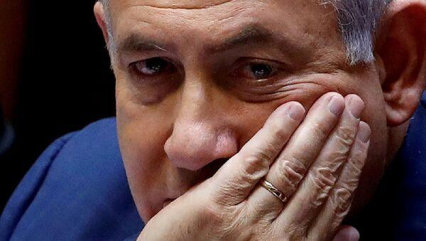 Israeli Prime Minister Benjamin Netanyahu sits at the plenum at the Knesset, Israel's parliament, in Jerusalem May 30, 2019 - Sputnik International