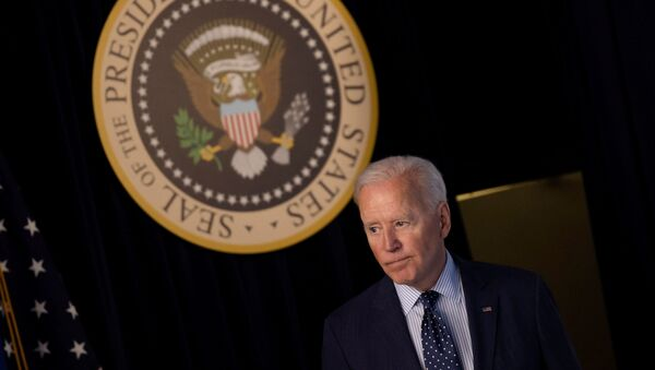 U.S. President Joe Biden departs after delivering an update on his administration's coronavirus disease (COVID-19) response in the Eisenhower Executive Office Building's South Court Auditorium at the White House in Washington, U.S., June 2, 2021. - Sputnik International