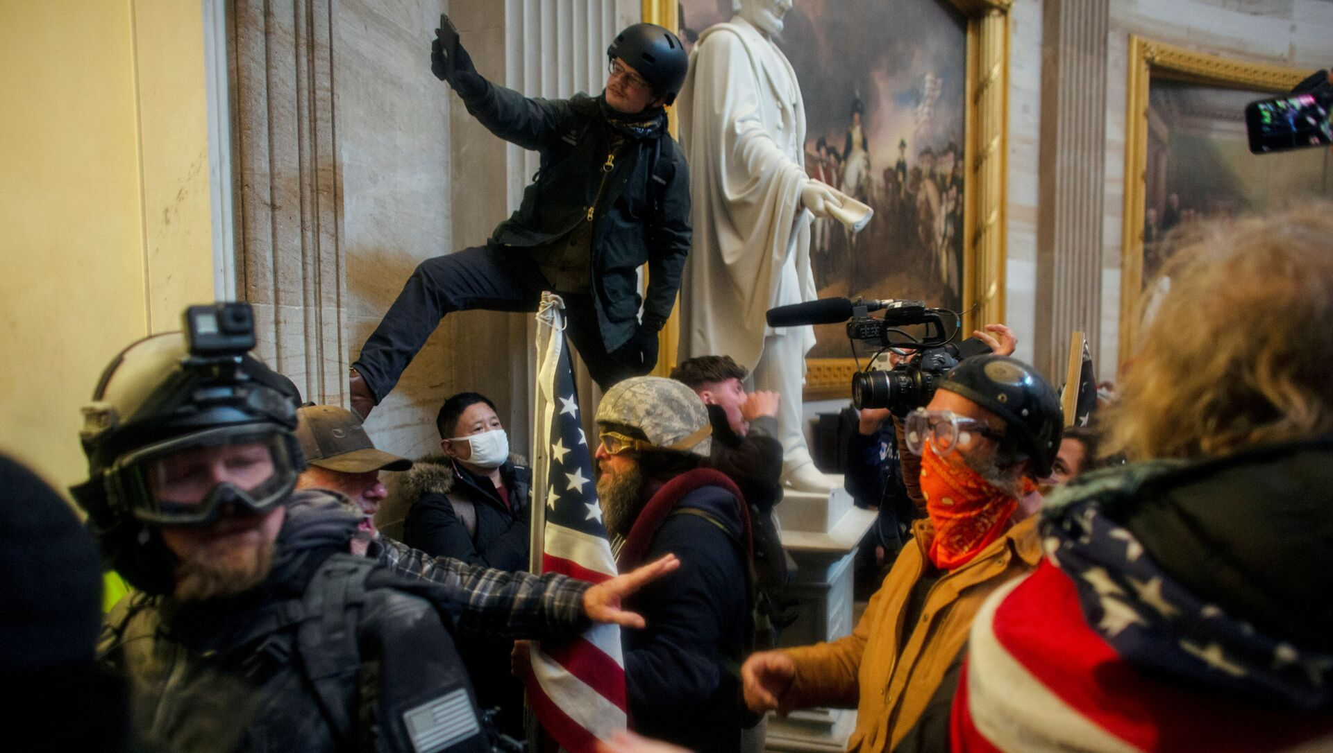 FILE PHOTO: Pro-Trump protesters storm the U.S. Capitol to contest the certification of the 2020 U.S. presidential election results by the U.S. Congress, at the U.S. Capitol Building in Washington, DC., 6 January 2021.  - Sputnik International, 1920, 16.06.2021