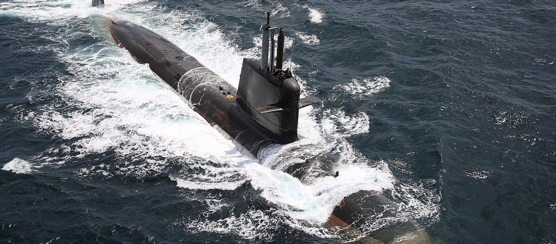 INS Kalvari first of six Scorpene class submarines constructed at Mazagon Dock under Project 75 (Kalvari Class) was commissioned into Indian Navy - Sputnik International, 1920, 04.06.2021