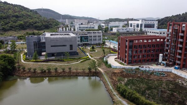 An aerial view shows the P4 laboratory (L) at the Wuhan Institute of Virology in Wuhan in China's central Hubei province on April 17, 2020 - Sputnik International