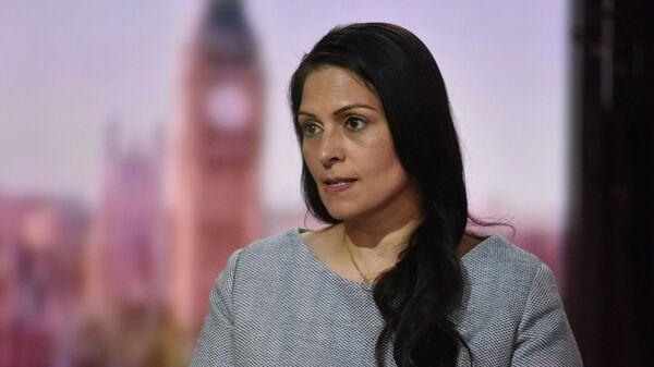 Britain's Home Secretary Priti Patel appears on BBC TV's The Andrew Marr Show in London, Britain May 23, 2021 - Sputnik International