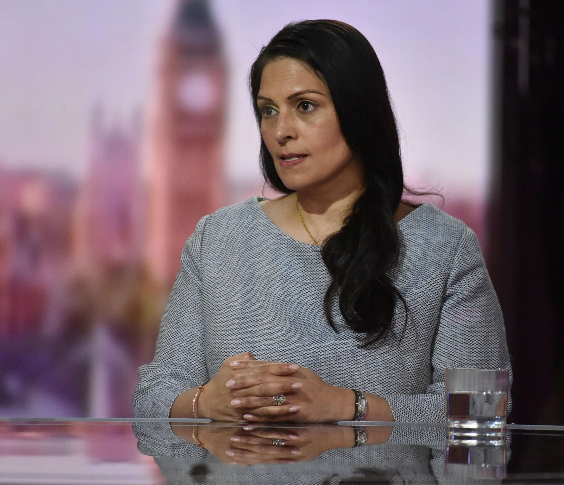 Britain's Home Secretary Priti Patel appears on BBC TV's The Andrew Marr Show in London, Britain May 23, 2021 - Sputnik International, 1920, 07.09.2021
