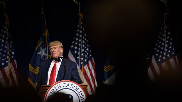 Former U.S. President Donald Trump addresses the NCGOP state convention on June 5, 2021 in Greenville, North Carolina. The event is one of former U.S. President Donald Trumps first high-profile public appearances since leaving the White House in January.  - Sputnik International