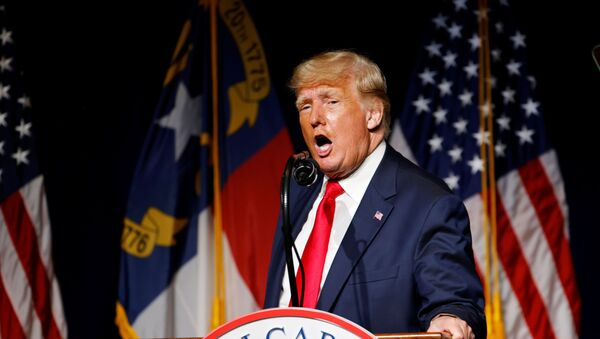 Former U.S. President Donald Trump speaks at the North Carolina GOP convention dinner in Greenville, North Carolina, U.S. June 5, 2021.   - Sputnik International