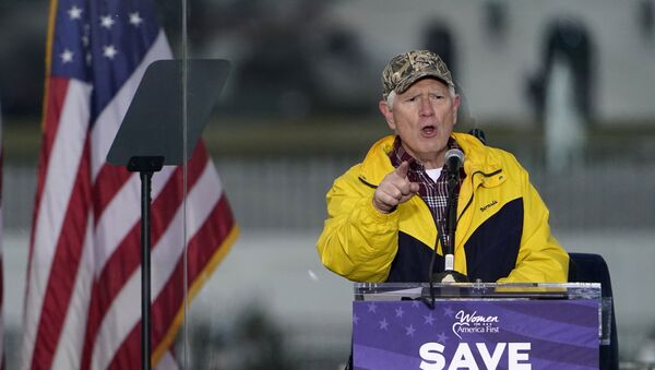 FILE - In this Jan. 6, 2021 file photo, Rep. Mo Brooks, R-Ark., speaks in Washington, at a rally in support of President Donald Trump called the Save America Rally. Brooks, teasing the announcement of a possible run for U.S. Senate, has scheduled a campaign rally on Monday, March 22, 2021, where he will be joined by former President Donald Trump adviser Stephen Miller. - Sputnik International