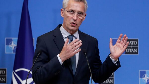 NATO Secretary-General Stoltenberg and Lithuanian Prime Minister Simonyte give press conference in Brussels - Sputnik International