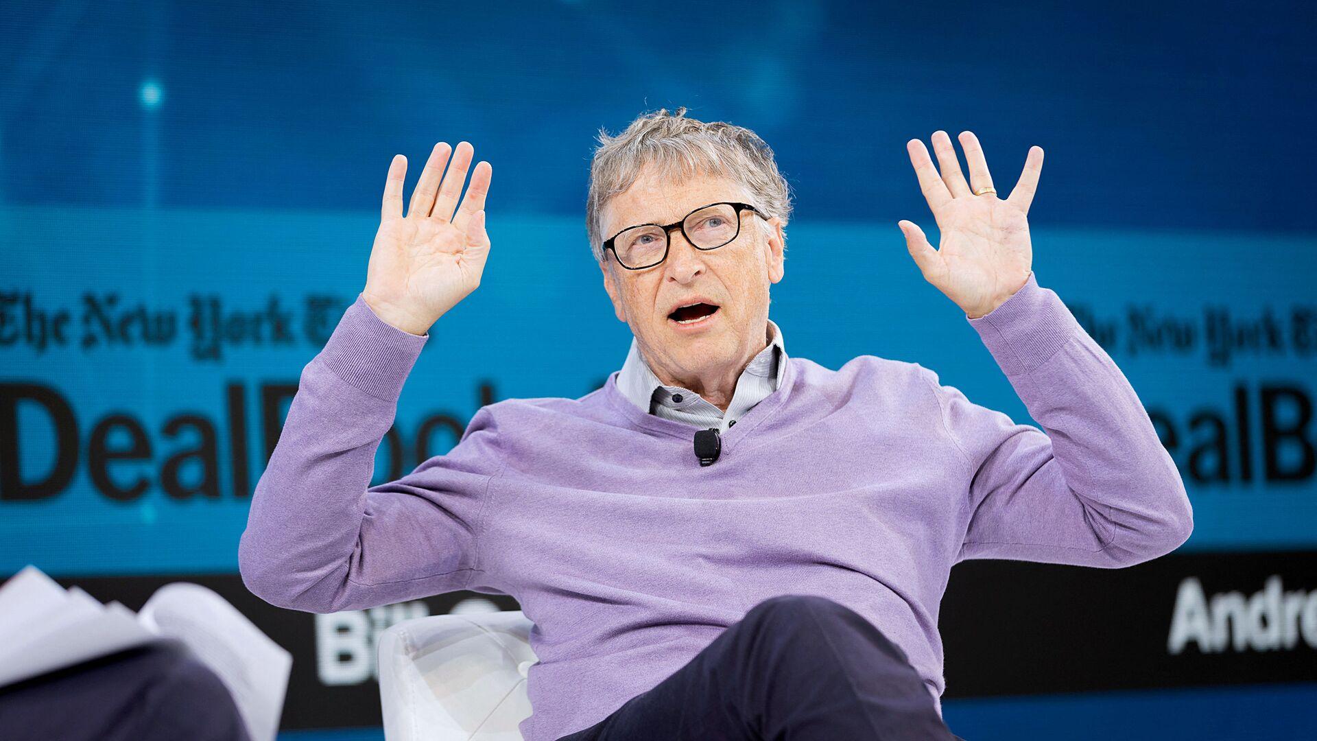 Bill Gates, Co-Chair, Bill & Melinda Gates Foundation speaks onstage at 2019 New York Times Dealbook on 6 November 2019 in New York City. - Sputnik International, 1920, 05.08.2021