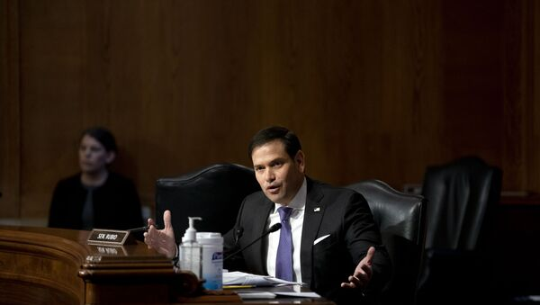 Sen. Marco Rubio, R-Fla., speaks during a Senate Appropriations Subcommittee looking into the budget estimates for National Institute of Health (NIH) and the state of medical research, Wednesday, May 26, 2021, on Capitol Hill in Washington. - Sputnik International