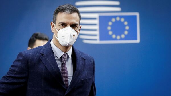 Spanish Prime Minister Pedro Sanchez arrives at the second day of a special EU summit in Brussels, Belgium May 25, 2021.  - Sputnik International